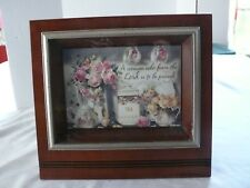 """Proverbs 31:30 Sankyo Music Picture Frame-Plays """"You Light Up My Life""""-Used"""