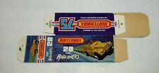 "Matchbox Superfast No 28 Stoat ""NOT RECOMMENDED"" Original ""J"" Box UNFOLDED MINT"