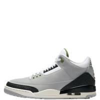 Air Jordan 3 Retro Chlorophyll Men's Sneakers Gray Casual Shoes 2018 -136064-006