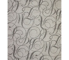 45'' Home Essentials Multipurpose Fabric Calligraphy Nickel By the Yard letters