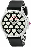 Juicy Couture Womens 1901220 Jetsetter Black and White Heart Dial Watch