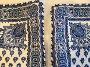 Vintage Pair of Pierre Deux Custom Blue and White Europeon Shams