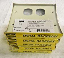 Hubbell Wiring Device-Kellems Rectangular Raceway Plates Qty. 5 #Hbl4747Bxiv