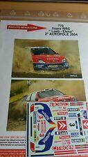 DÉCALS  1/43 réf 779 Citroën Xsara Wrc Loeb  Acropole 2004