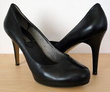 BANANA REPUBLIC Black Leather Career Platform Pumps Shoes High Heels Size 9.5 M