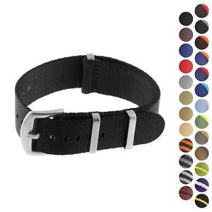 StrapsCo Premium Nylon Seat Belt Wrap Around Watch Strap - 18mm 20mm 22mm 24mm