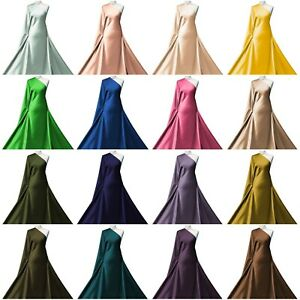 Stretch Satin Fabric Premium Quality 2 Way Stretch Bridal Dressmaking Material