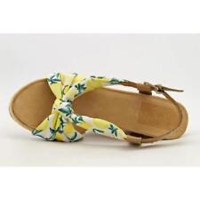 Calzado de mujer sandalias con tiras de color principal blanco de lona