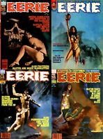 141 OLD ISSUES OF EERIE COMIC HORROR THRILLER SCIENCE SEXY ART MAGAZINE ON DVD