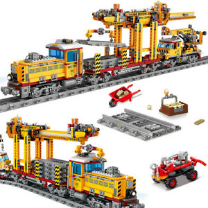 Bausteine KY-98253 Dampflokomotive Schienenz Modell Spielze OVP 1270PCS