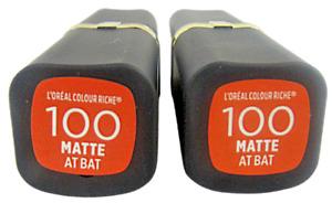 L'Oréal Colour Riche Lipstick #100 Matte-At Bat (2)