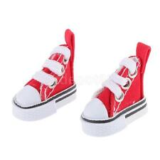 Red Casual Sneakers Canvas Shoes for 1/6 Blythe/Momoko/AZONE Dolls Clothes