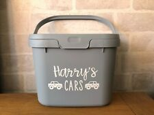 Personalised customised toy car box storage caddy tub box