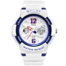 SMAEL Womens Sport Watch Dual Display Analog Digital LED Fashion Wrist Watches