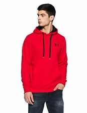 Under Armour Rival Fitted Hommes Sweat À capuche - Red Toutes Tailles Large