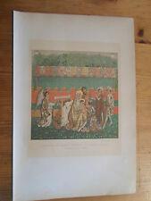 chormolithographie 19 éme - tapisserie de Berne - l'adoration des mages