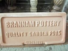 More details for a large vintage brannam pottery terracotta advertising plaque