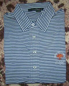 RALPH LAUREN RLX Golf Polo Dress Shirt KIAWAH THE OCEAN COURSE L Striped TOP 100