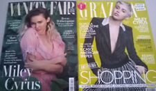 MILEY CYRUS SET OF TWO VANITY FAIR GRAZIA MAGAZINES ITALY SEPTEMBER 2017 2015
