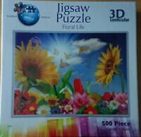 Puzzle World 3D Lenticular Floral Life 500 Piece Jigsaw New Sealed
