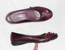 SAN MARINA ballerines cuir violet prune P 36 = 37 TBE