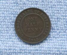 1915 H KEY DATE Half Penny Commonwealth Australia  P-867