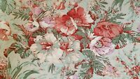 Ralph Lauren Fabric Cottage Floral Rose Upholstery Home Decor Cotton 3-1/2 yds