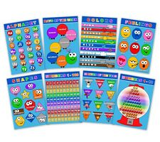 Educational Learning Posters Toddlers Kids Laminated Alphabet Numbers Preschool