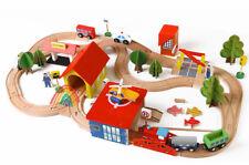 69 pcs Wooden Train Set