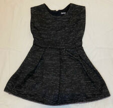 Cat & Jack Girls 2T Black Silver Shimmering Dress Holiday Zip Back Fancy EUC