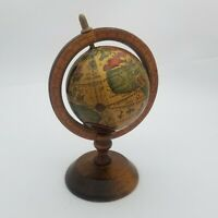 "Vintage Wood Globe Bank 3"" Diameter 7"" Tall"