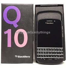 NEU BlackBerry q10 Entsperrt Smartphone QWERTY Tastatur-schwarz