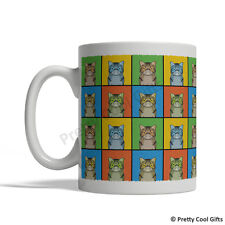 Exotic Shorthair Cat Mug - Cartoon Pop-Art Coffee Tea Cup 11oz Ceramic