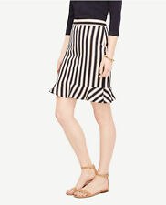 Ann Taylor - Woman's Size 12 Atlantic Navy Striped Flounce Skirt $89.00 (612)