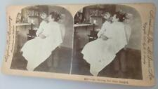 EROTIC SAUCY STEREOVIEW GETTING HER HAIR BANGED MEADVILLE ST LOUIS USA1897