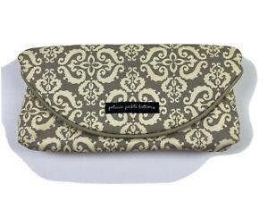 Petunia Pickle Bottom Change It Up Clutch Foldable Diaper Bag Gray White Print