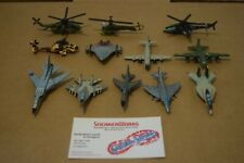 Vintage Galoob Micro Machines Lot Of 12 Military Aircraft Jets Helicopters