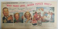 Pepsi-Cola Ad: Captain Witherspoon US Navy Hawaii 1940's Size 7.5 x 15 inches