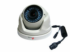 3MP White IP Dome CCTV Camera Night Vision 30m Varifocal Lens 2.8-12mm