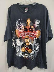 VTG 2007 WWE Monday Night RAW John Cena Jericho HHH Stone Cold Hardy Mens 2XL