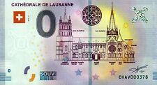 Null Euro Schein - 0 Euro - Cathedrale de Lausanne 2019-2 Schweiz