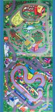 Farm PLUS Race Track Themed Floor Play Mats Game 2 Kids Cars Trucks