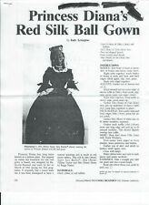 "Princess Diana's Red Silk Ball Gown 18"" By Judy Arrington"