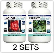 2 Pillole DETERGENTE parassita Disintossicante Colon Fegato Purificare Flush Pulizia Intestino Digestione