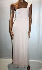 TEMT Brand Beige Chiffon One Shoulder Glam Party Dress Size M BNWT #TL54