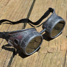 Steampunk Goggles Distressed Dystopian Cyber Wasteland Glasses Rave Military