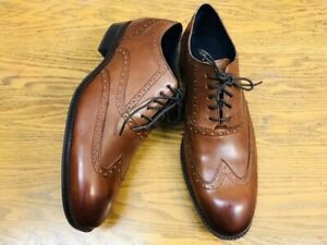 COLE HAAN WAYNE WINGTIP LACE UP MENS LEATHER OXFORD SHOES C30687 NWOB SIZE 11