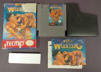 Tecmo World Wrestling  - NES Nintendo Game Original BOX Complete CIB Manual