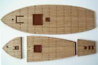 Heller Santa Maria 1:75 - laser cut wooden deck for model
