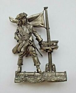 """1/30 Captain Jack Sparrow Pirates of the Caribbean Tin Metal Soldier 60mm / 2.3"""""""